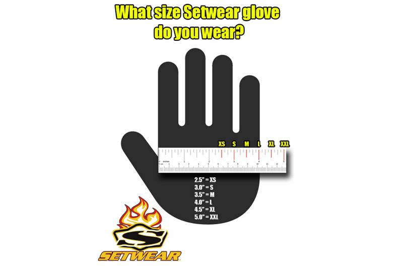SetWear Leather Fingerless Gloves