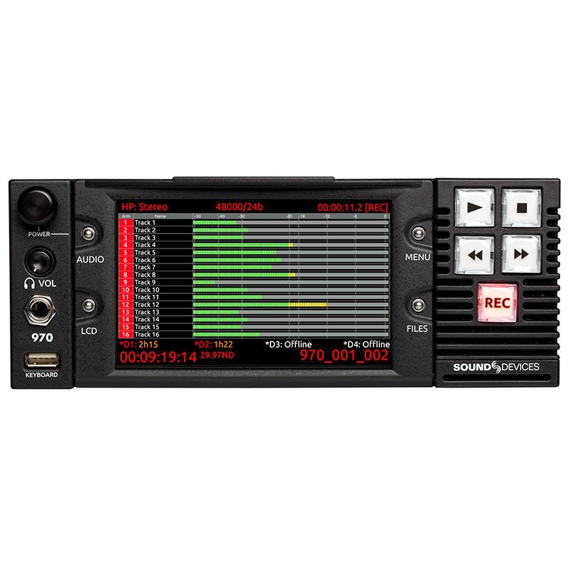 Sound Devices 970 64-Track Dante and MADI Audio Recorder
