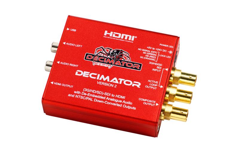 Decimator 2 SDI to Composite and HDMI Down Converter (3G/HD/SD)