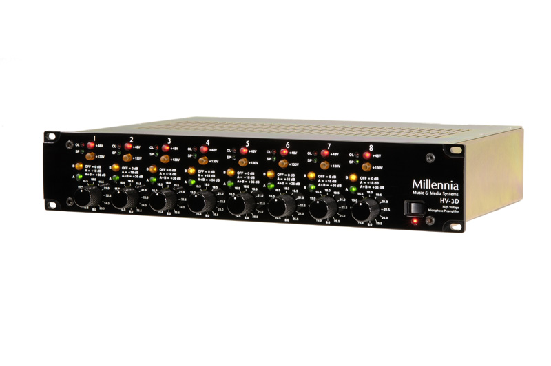 Millennia HV-3D-8 Eight Channel Microphone Preamplifier