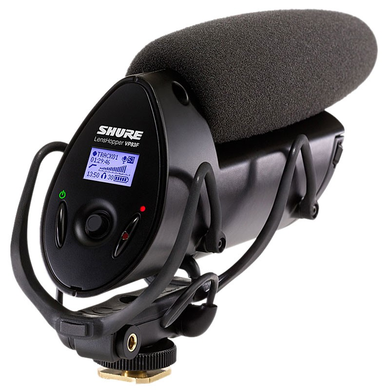 Shure VP83F LensHopper Camera-Mount Condenser Microphone w/ Integrated Flash Recording
