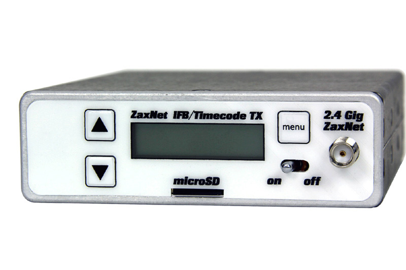Zaxcom IFB200 ZaxNet transceiver with built-in recorder