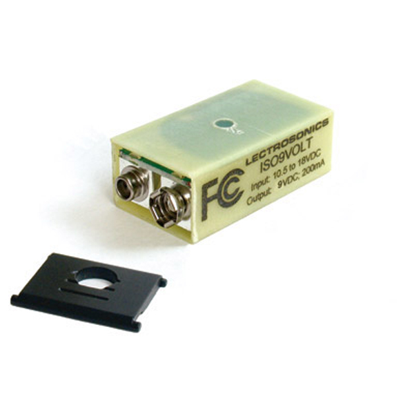 """Lectrosonics ISO9Volt Battery Eliminator type """"H"""" (with door for plug-on transmitters)"""