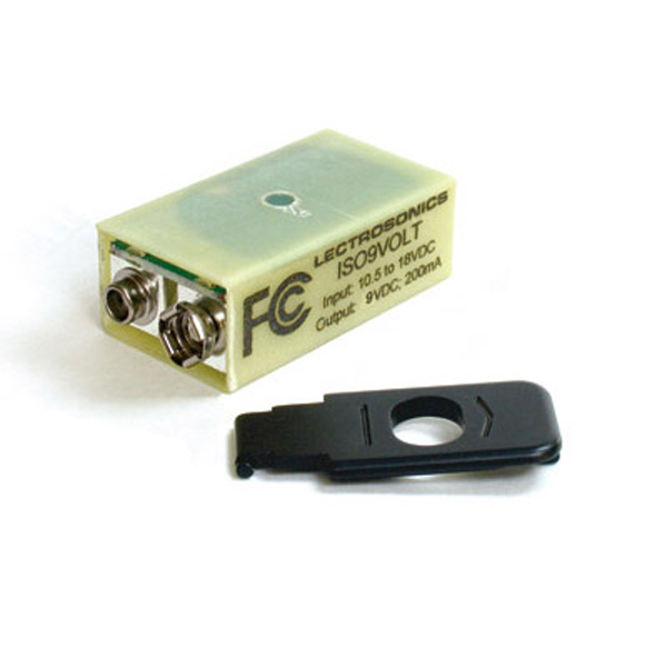 """Lectrosonics ISO9Volt Battery Eliminator type """"M"""" (with door for M and UM transmitters)"""